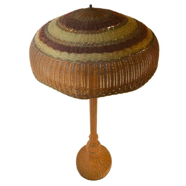 Wicker Floor Lamp
