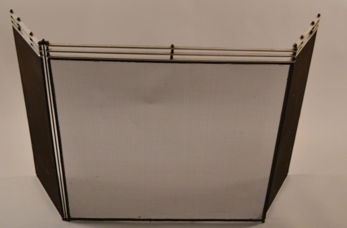Machine Age Art Deco Fire Screen Folding Spark Guard At 1stdibs
