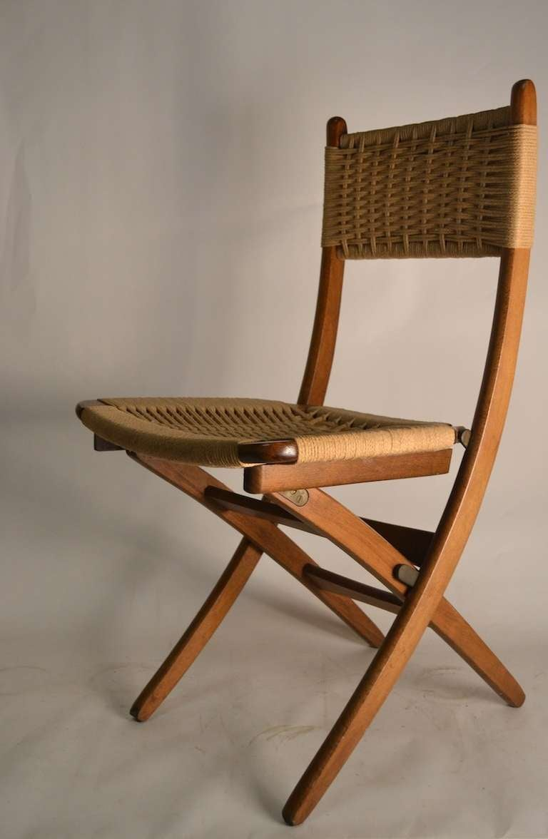 a fritz folding chairs long island city. pair folding side chairs with jute weave seats and backs 2 a fritz long island city