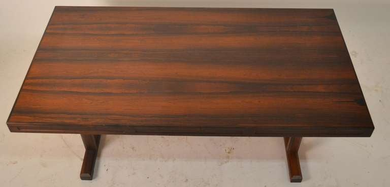 Exquisite Danish Modern Rosewood Coffee Table 2