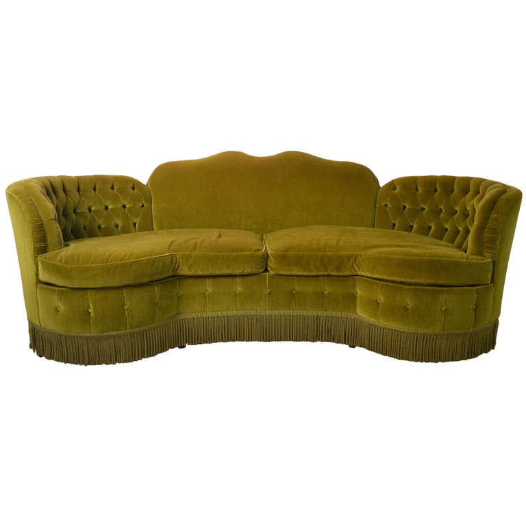 totally glam art deco sofa at 1stdibs. Black Bedroom Furniture Sets. Home Design Ideas