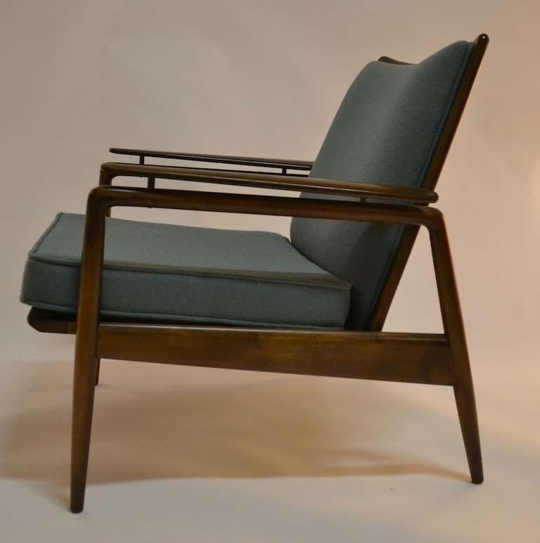 Danish Modern Lounge Chair by Selig at 1stdibs