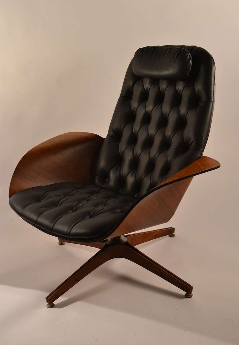 Mulhauser for Plycraft Lounge Chair and Ottoman at 1stdibs
