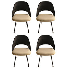 Set of Four Early Saarinen for Knoll Dining Chairs