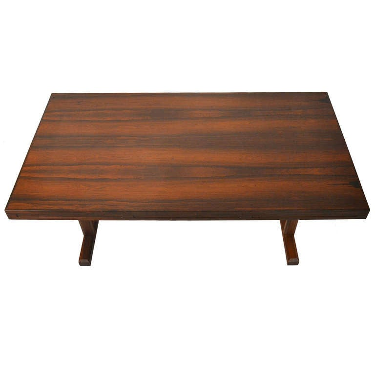Exquisite Danish Modern Rosewood Coffee Table For Sale At 1stdibs