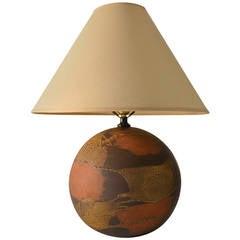 Haeger  Earth Wrap Ball Form Pottery Lamp