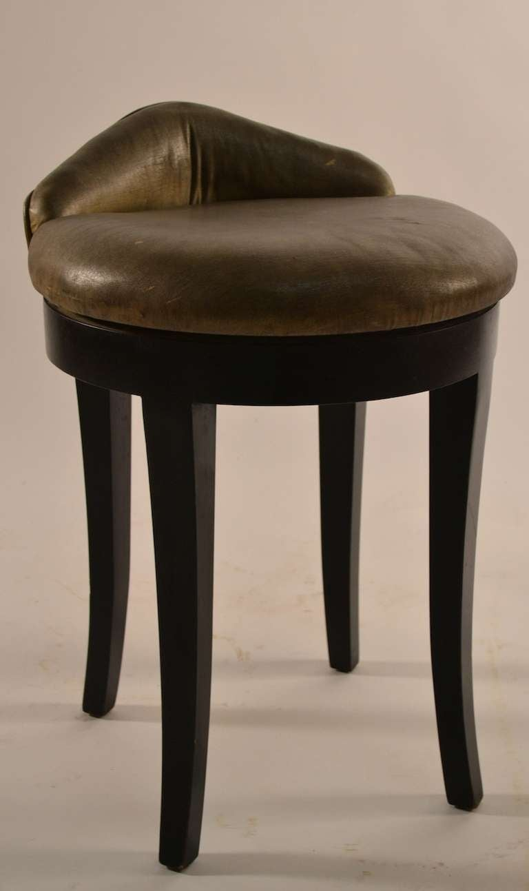 Art Deco Swivel Vanity Stool By Samuel Marx At 1stdibs