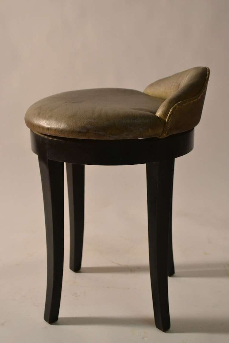 Art Deco Swivel Vanity Stool By Samuel Marx At 1stdibs
