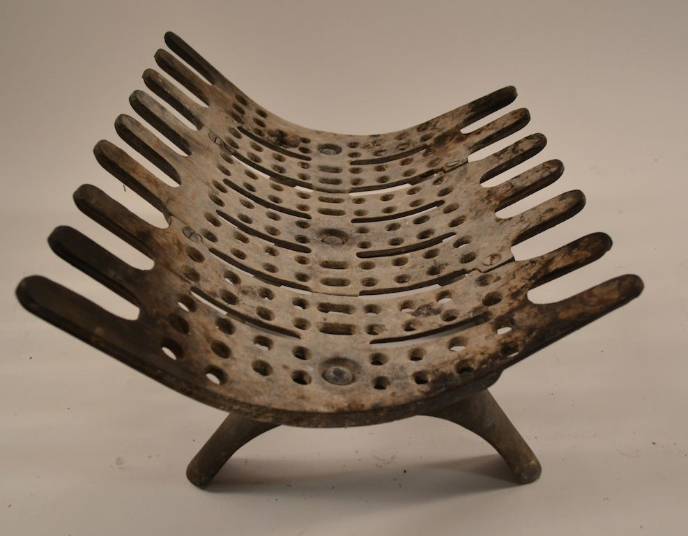 Mid Century Fireplace Grate At 1stdibs