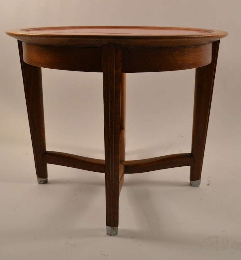 Laminate Art Deco Table by Batistin Spade For Sale