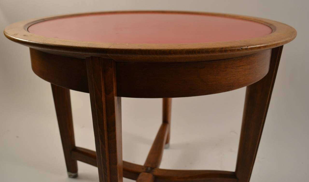 Mid-20th Century Art Deco Table by Batistin Spade For Sale