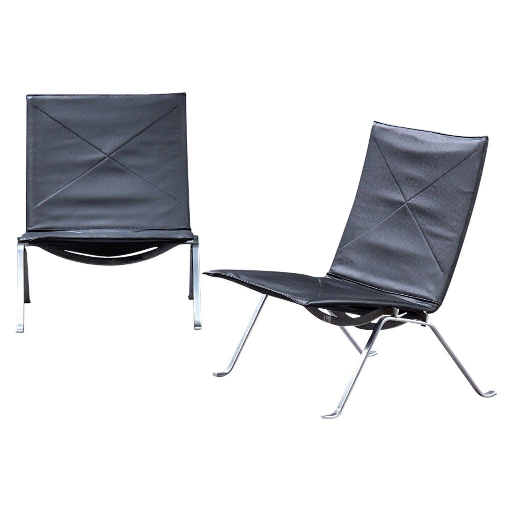 PK22 Lounge Chairs By Poul Kjaerholm Manufactured By E Kold Christensen For