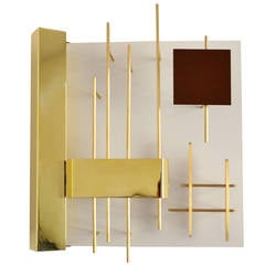"Set of Four Wall Lights, ""Quadri Luminosi,"" Model 575, by Gio Ponti"
