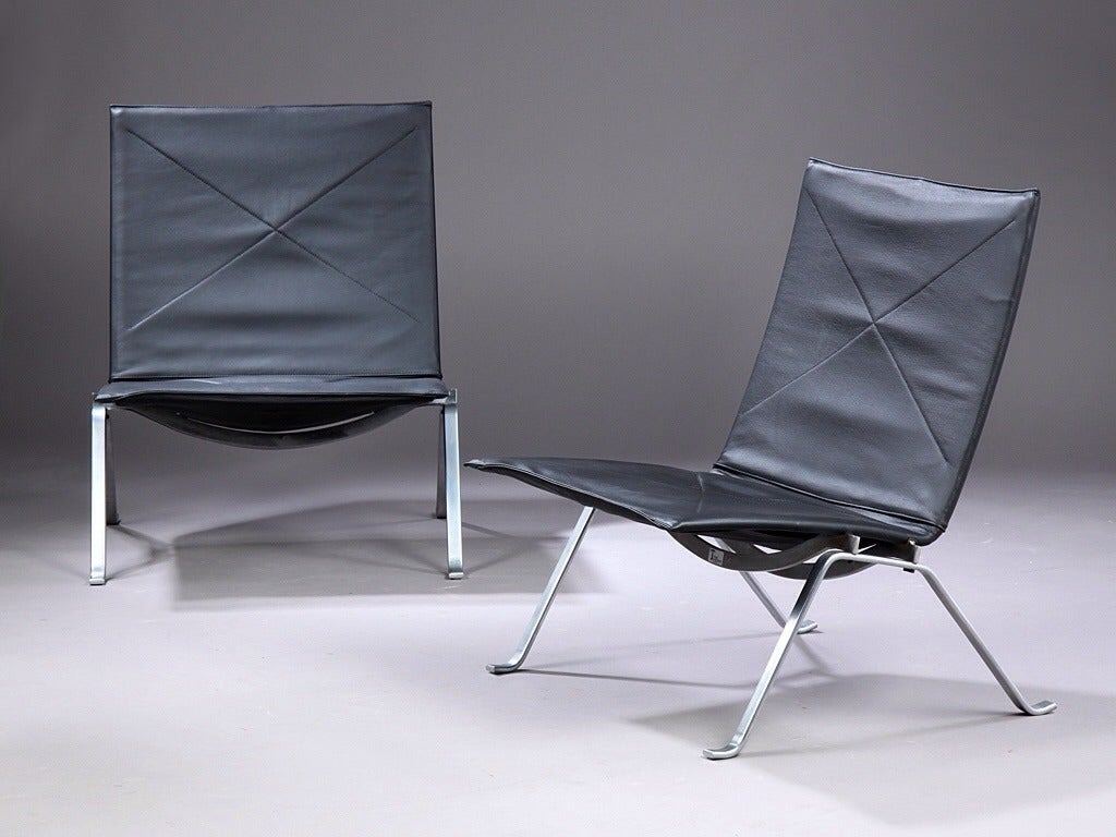 Pk22 Lounge Chairs By Poul Kjaerholm Manufactured By E Kold Christensen For Sale At 1stdibs