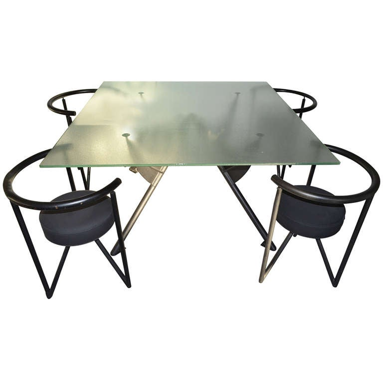 Philippe starck early set of table and chairs at 1stdibs for Philippe starck tables