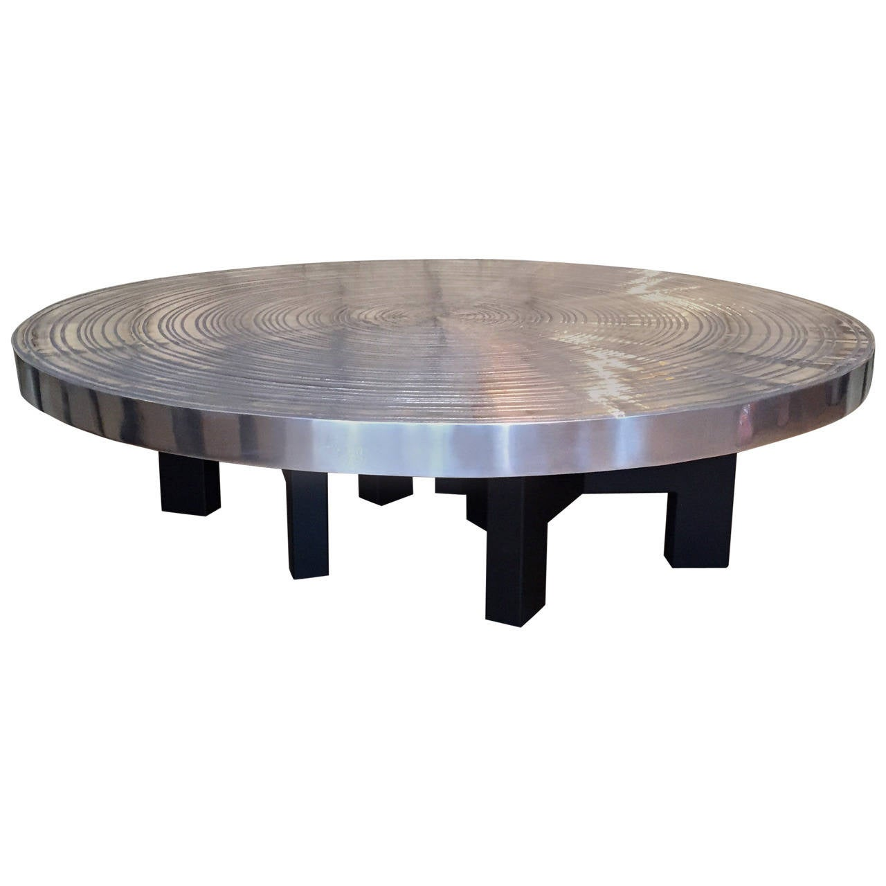 large aluminium coffee table by ado chale goutte d 39 eau at 1stdibs. Black Bedroom Furniture Sets. Home Design Ideas