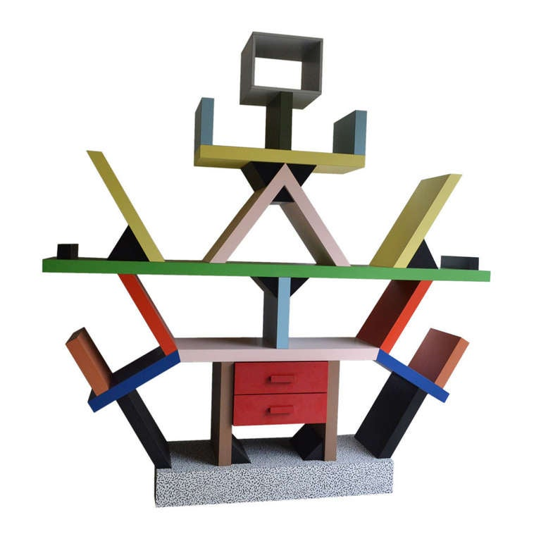 Ettore sottsass carlton bookcase memphis milano at 1stdibs for Memphis sottsass