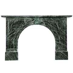 Victorian Arched Verdi Antico Marble Mantel, 'VIC-ZA76'