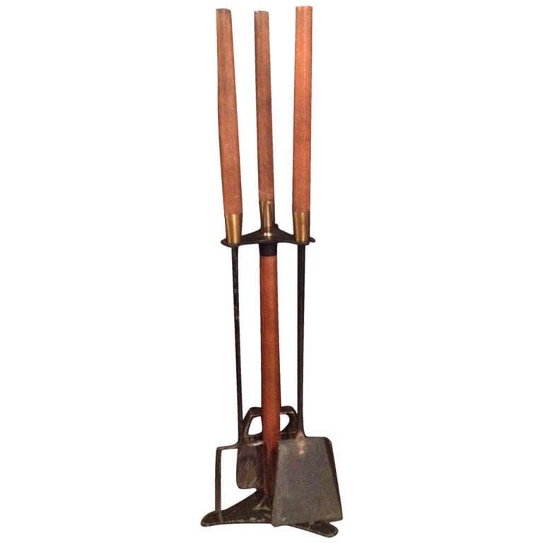 Mid Century Rustic Wood Tool Set At 1stdibs