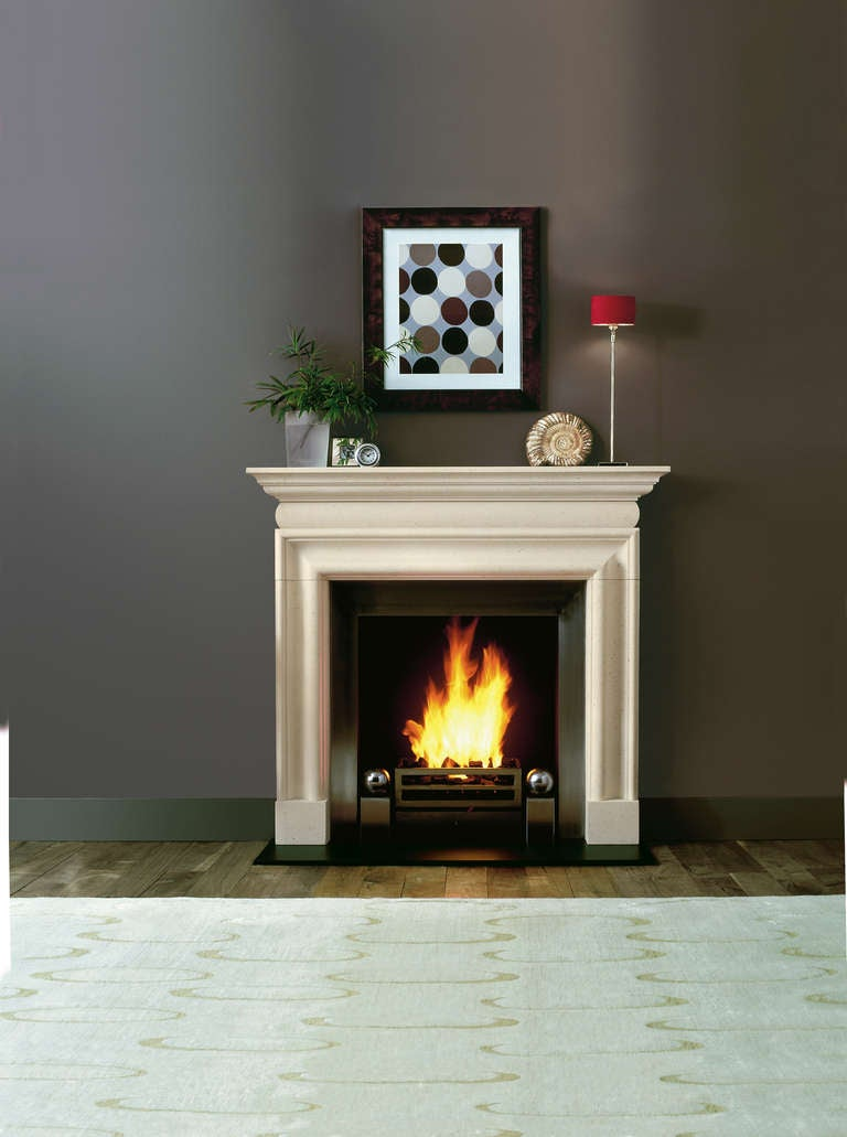 Queen Anne Style Limestone Bolection Mantel For Sale at ...