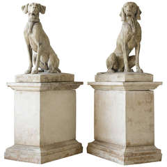 Sculpted Dogs on Pedestals