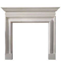 Queen Anne Style Limestone Bolection Mantel