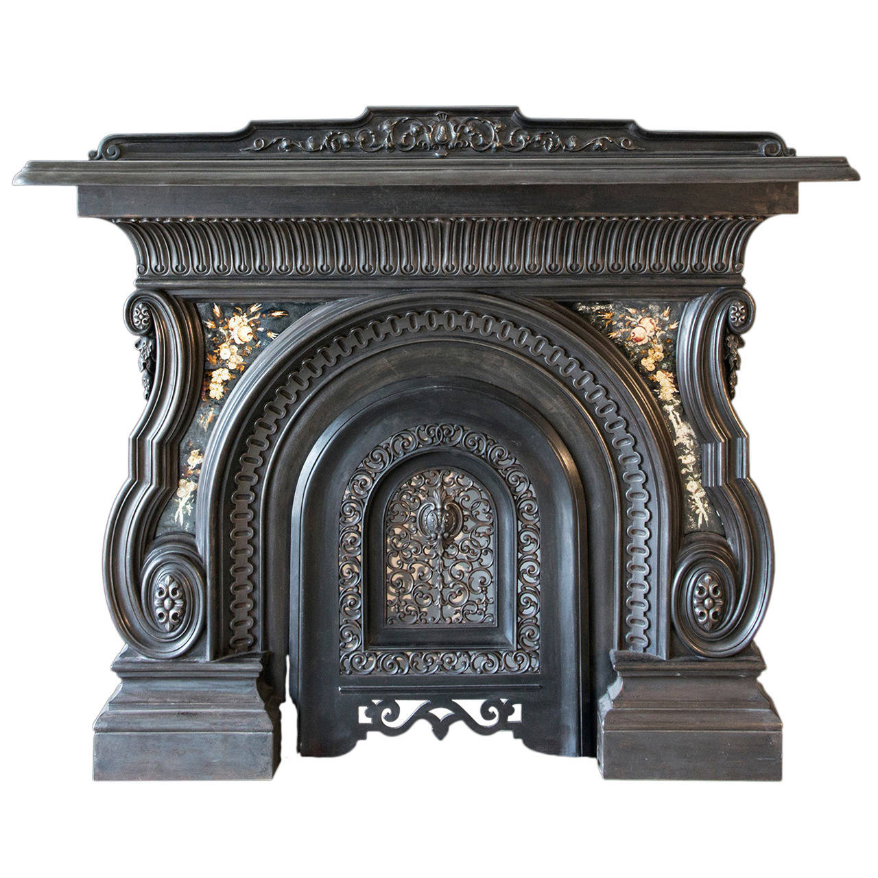 19th Century Cast Iron Victorian Mantel And Grate For Sale At 1stdibs