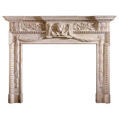 18th Century Palladian Mantel with Detail Carving and Rococo Influence