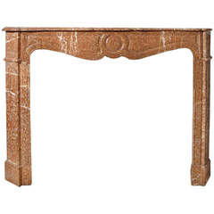 Pompadour Style Breche Marble Mantel