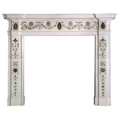 Late 18th Century Irish Mantel in Statuary Marble