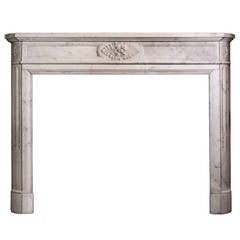 19th Century Louis XVI Carrara Marble with Carved Details