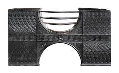 18th Century Cast Iron Half Hob Grate, 'CAST-ZE04'