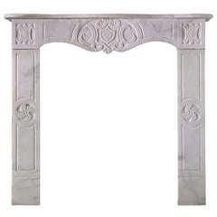 "19th Century Italian Carrara Marble Mantel, ""FR-N40"""