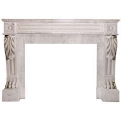 19th Century French Marble Mantle