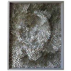 Silver Eddy BKW 04, Original Art Work in Abalone Shell