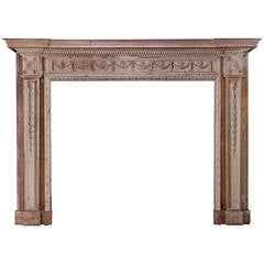 18th Century Neoclassical Pine Mantel