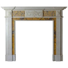 18th Century Regency Statuary and Siena Mantel