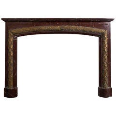 Louis XVI Rouge Griotte Marble Mantel 'FR-NY53'