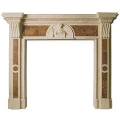 Late 18th Century Statuary Marble Mantel