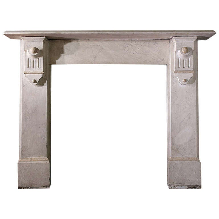 stone mantel with painted edwardian corbel for sale at 1stdibs