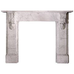 19th Century Mantel in Veined Carrara, 'VIC-ZD50'