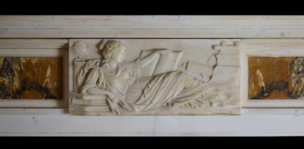 British 19th Century Regency Mantel in Statuary and Siena For Sale