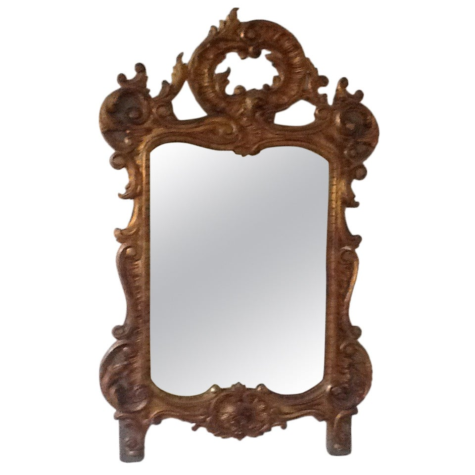 19th century french rococo style vanity or wall mirror at for Baroque style wall mirror