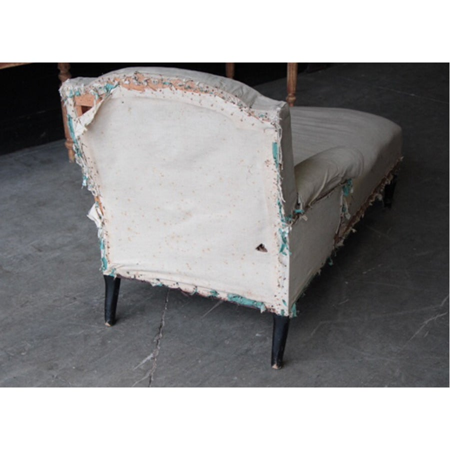 19th century french chaise at 1stdibs for Chaises longues tressees