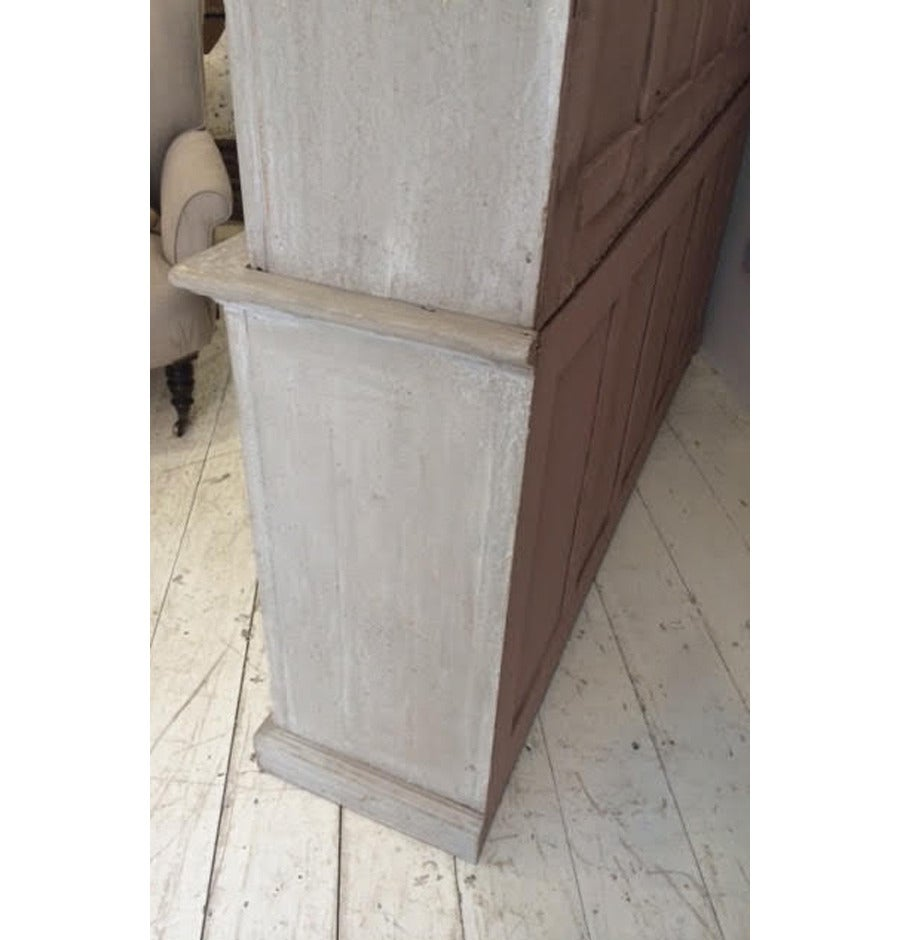 19th Century English Painted Housekeepers Cupboard At 1stdibs
