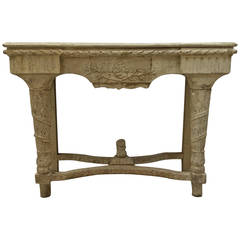 19th Century French Louis XVI Style Console Table in Original Paint