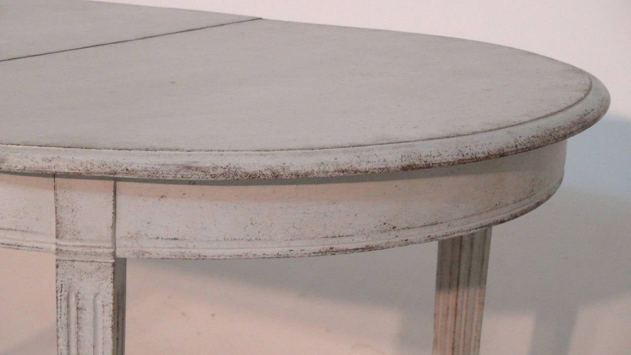 Swedish Painted Dining Table in the Gustavian Style 2