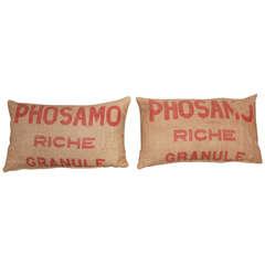 French Grain Sack Pillows