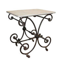 19th Century Small French Butcher or Pastry Table