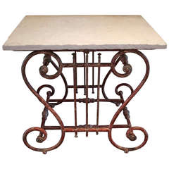 19th Century French Butcher or Pastry Table